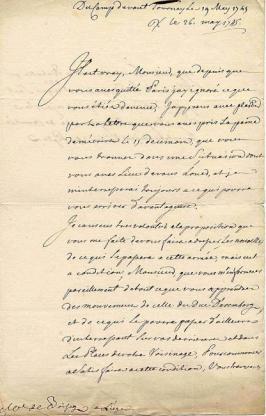 lettre M de Saxe 1